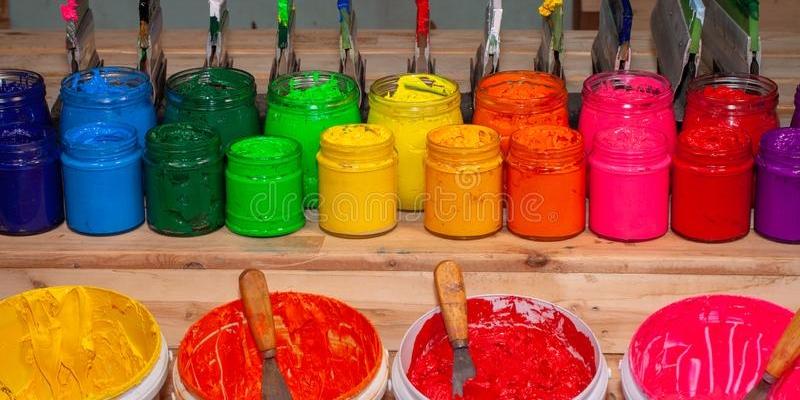 colorful-plastisol-ink-print-tee-shirt-transparent-bottles-screen-printing-factory-store-background-barrel-beautiful-blue-151891704